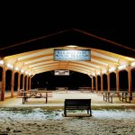 Railroad Park Pavilion at night